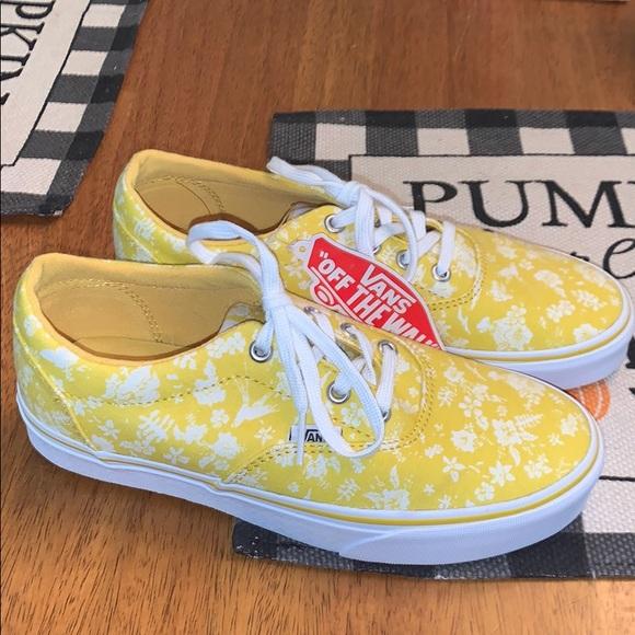 Vans Shoes | Vans Yellow Flower Vans